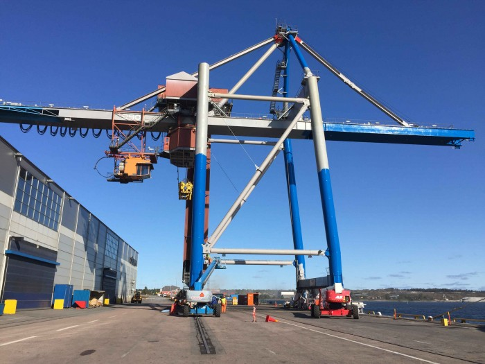Harbour Crane in Oxelösund Sweden